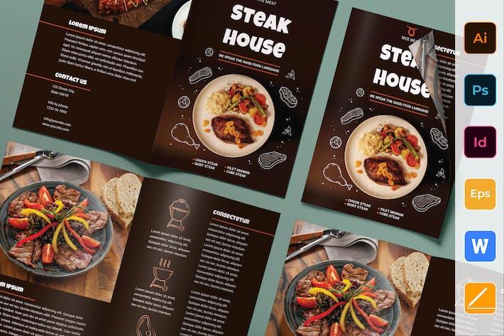Thumbnail for Steak House Brochure Bifold