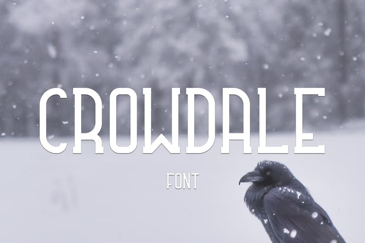 Thumbnail for Crowdale Font