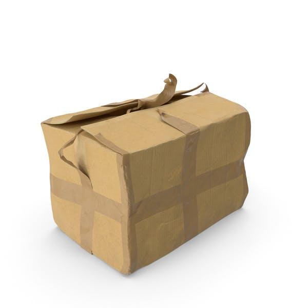 Cover Image for Старая поврежденная картонная коробка
