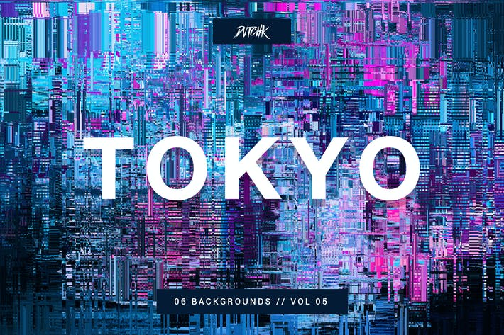 Thumbnail for Tokyo| City Glitch Backgrounds | Vol. 05