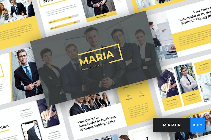 Thumbnail for Maria - Pitch Deck Keynote Template