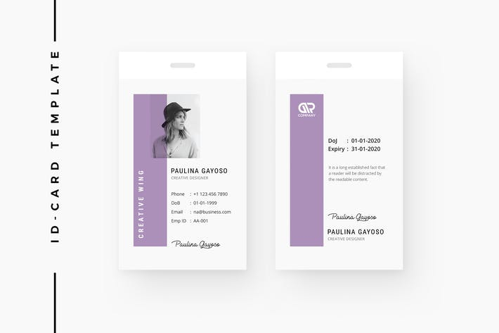 Thumbnail for Creative ID Card Template 09