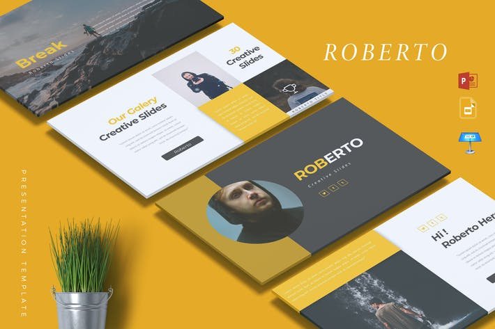 Cover Image For ROBERTO - Creative Powerpoint/Google Slide/Keynote
