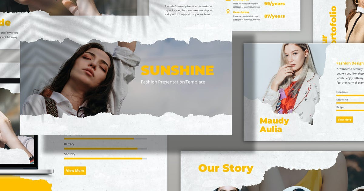 Download Sunshine - Fashion Powerpoint Template by SlideFactory