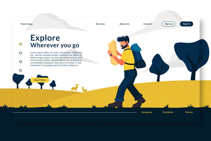 Thumbnail for Explore Wherever You Go - Landing Page GR