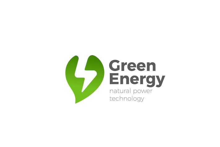 Thumbnail for Logo Green Alternative Energy Flash Leaf