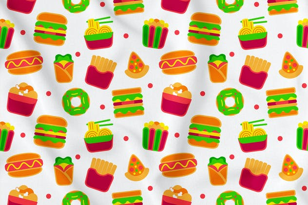 Fastfood Seamless Pattern Vol. 1 - product preview 1
