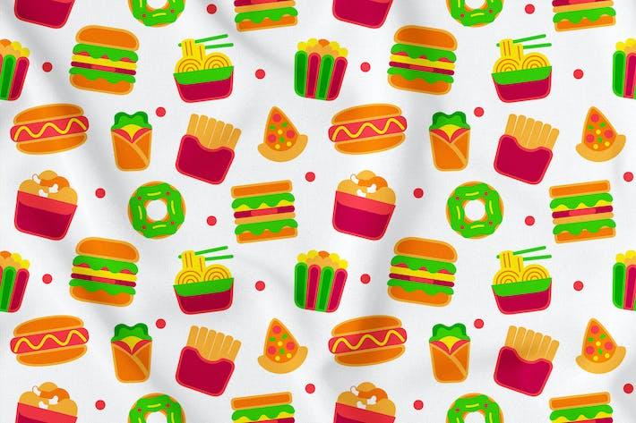 Thumbnail for Fastfood Seamless Pattern Vol. 1