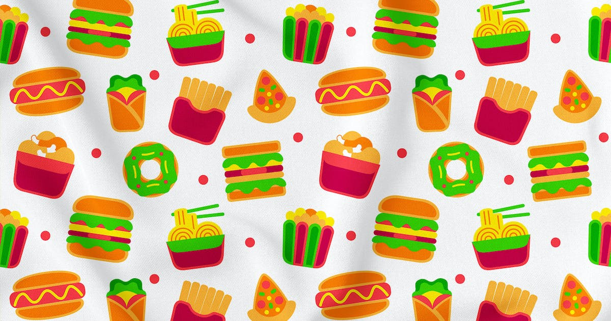 Download Fastfood Seamless Pattern Vol. 1 by medzcreative