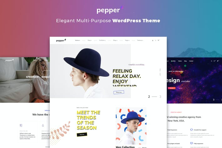 Thumbnail for Pepper - Elegent Multi Purpose WordPress Theme