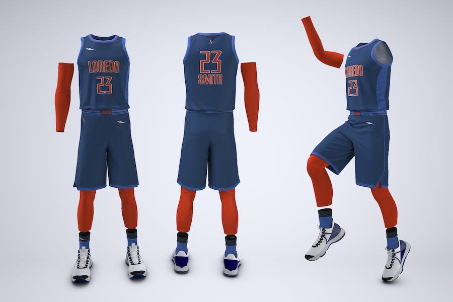 Basketball Team Uniform Mock-Up