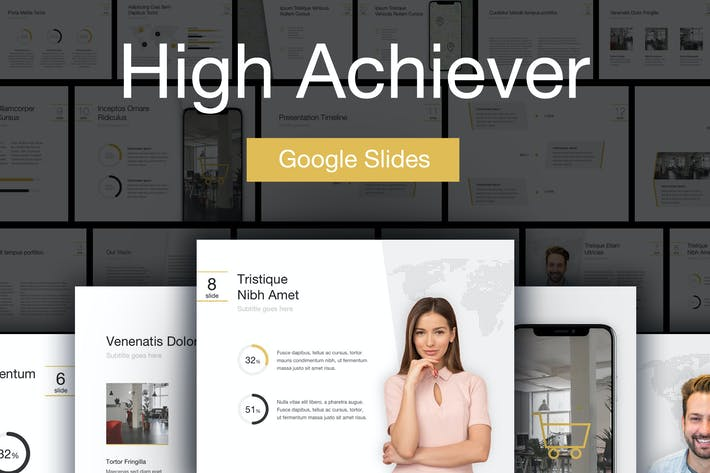 Thumbnail for High Achiever Google Slides