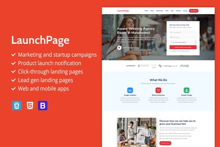LaunchPage - Premium HTML Landing Page Template