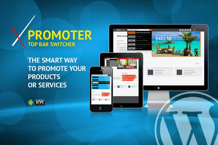 Thumbnail for xPromoter - Top Bar Switcher Responsive WordPress