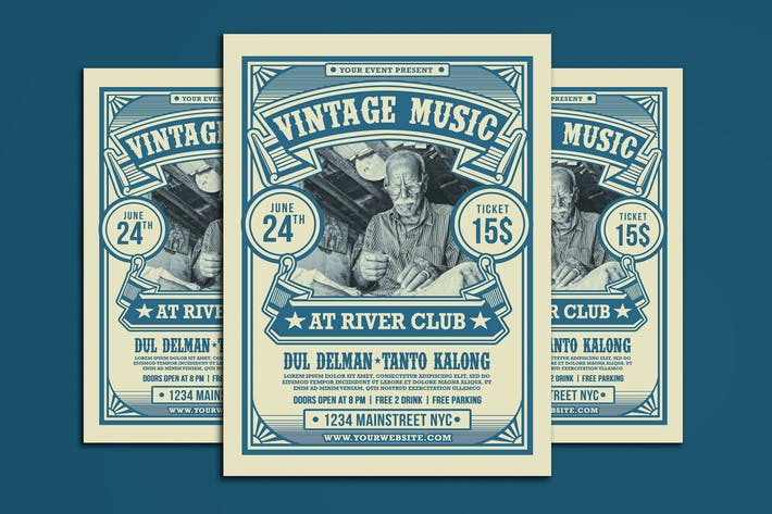 Thumbnail for Vintage Music Event Flyer