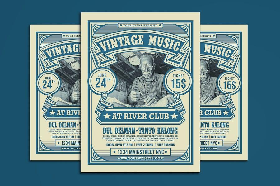 Vintage Music Event Flyer