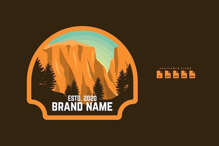 Thumbnail for Flat Badge Logo Adventure and Camping