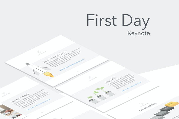Thumbnail for First Day Keynote Template