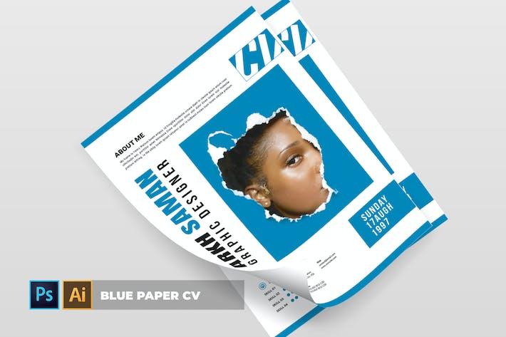 Thumbnail for Blue Paper | CV & Resume