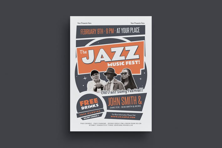 Thumbnail for The Old Jazz Music Flyer