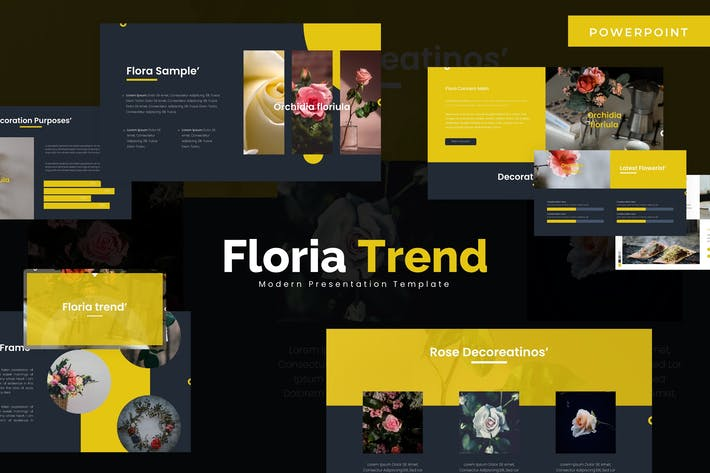 Thumbnail for Floria Trend - Powerpoint Template