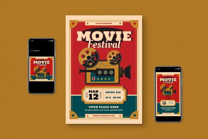 Thumbnail for Movie Festival Flyer Set