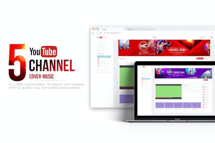 Thumbnail for Music Channel - Youtube Banner Template