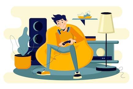 Video Gaming Illustration