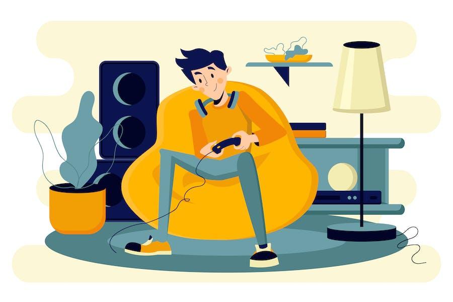 Иллюстрация Видео игр