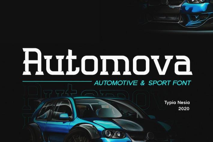 Thumbnail for Automova - Sport Font