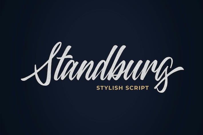 Thumbnail for Standberg Script Font