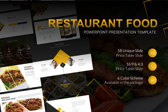 Thumbnail for Restaurant Food Powerpoint Presentation Template