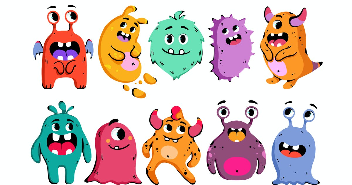 Download Cartoon Monsters Clipart by Jumsoft