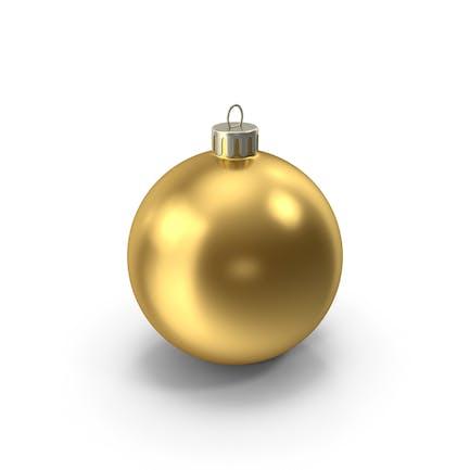 Золотой Рождественский орнамент