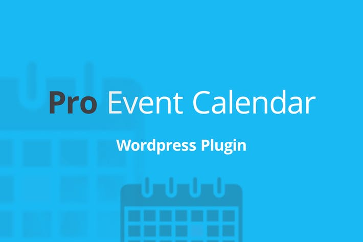 Thumbnail for WordPress Pro Event Calendar