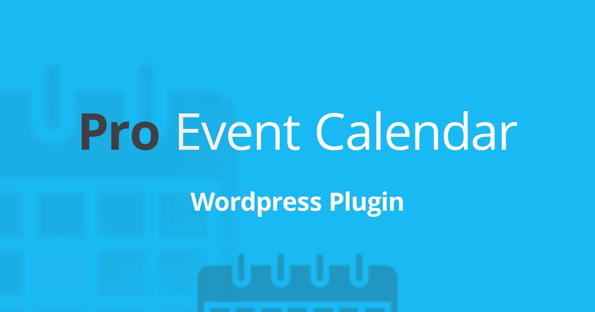 Download WordPress Pro Event Calendar by DPereyra