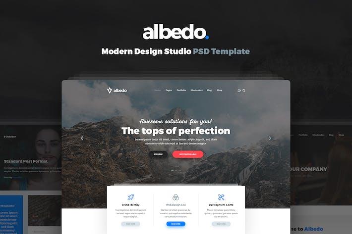 Thumbnail for Albedo - Modern Design Studio PSD Template
