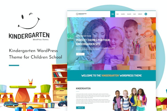 Thumbnail for Kindergarten | HTML template