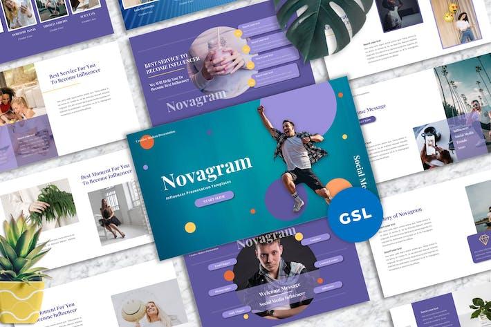 Thumbnail for Novagram - Influencer Googleslide Templates