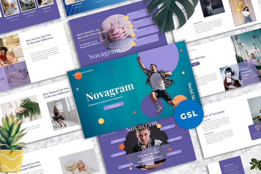 Novagram - Influencer Googleslide Templates