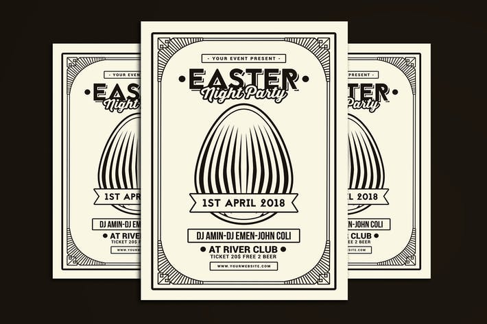 Thumbnail for Easter Party Flyer Art Deco Style