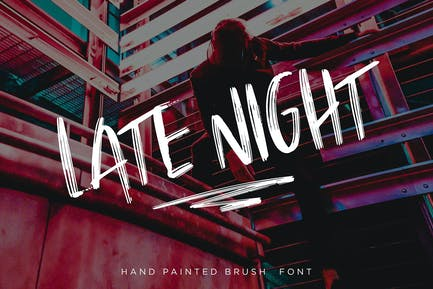 Late Night Brush Font