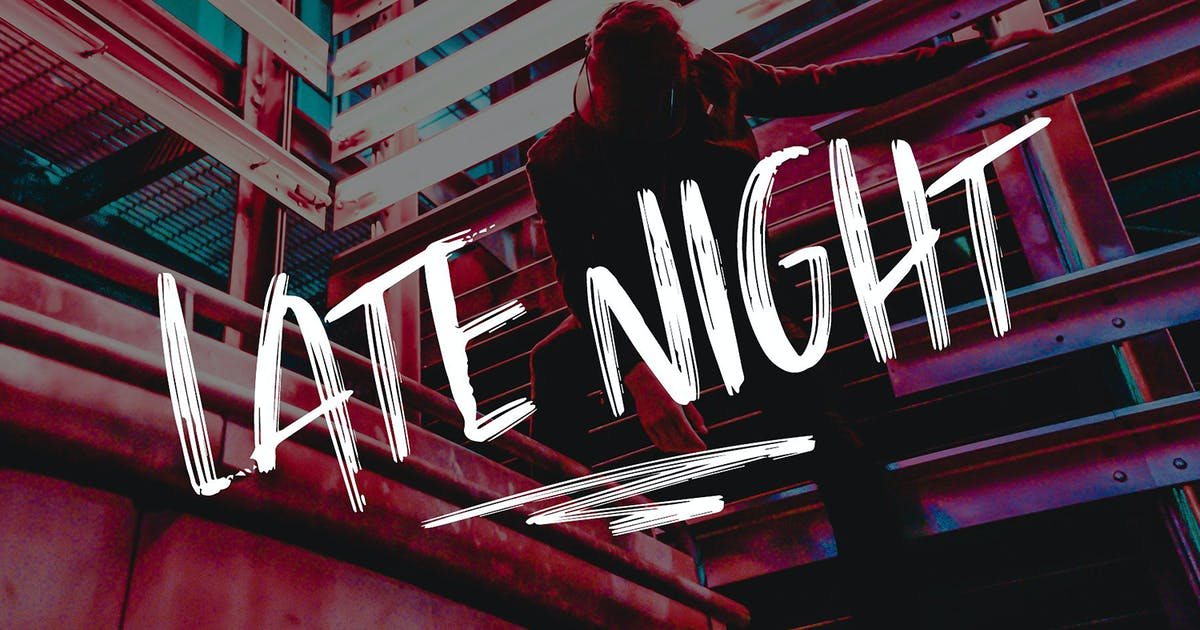 Download Late Night Brush Font by thinkmake