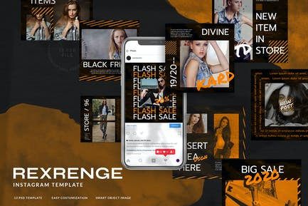 Rexrenge Instagram Template for Fashion Streetwear
