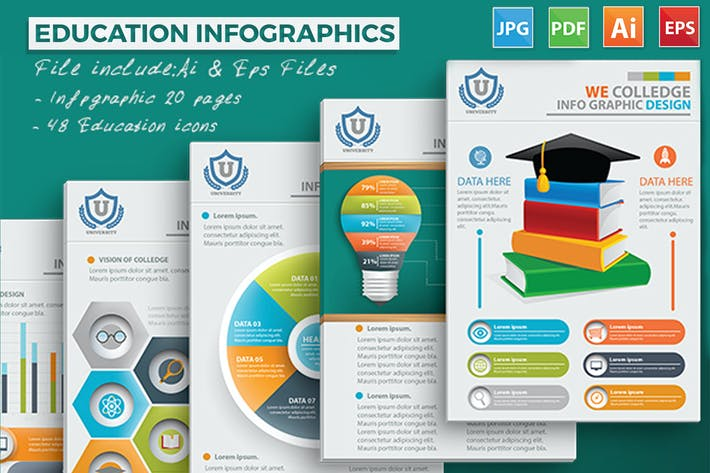 Thumbnail for Education Infographic Design 20 Pages