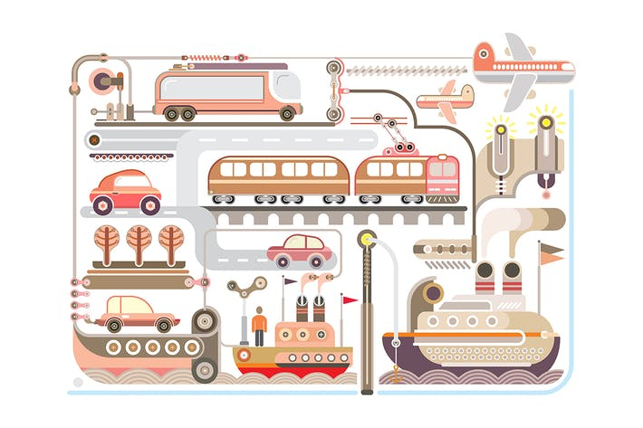 Thumbnail for Travel and Transport vector design