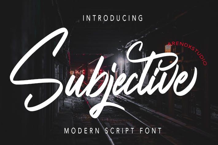 Субъективный - Современный шрифт