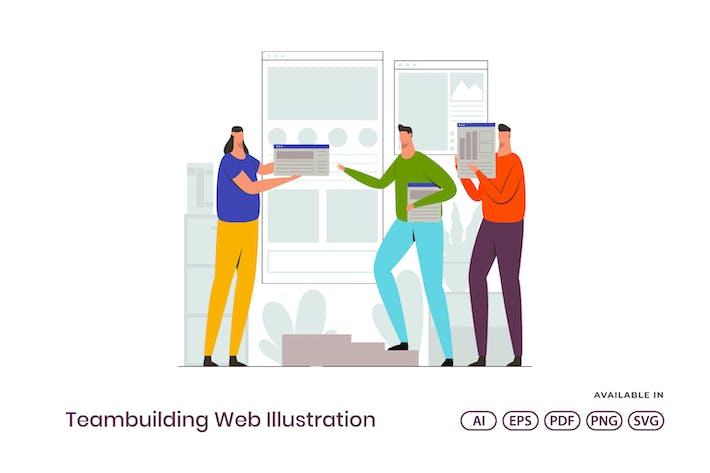 Thumbnail for Веб-иллюстрация тимбилдинга