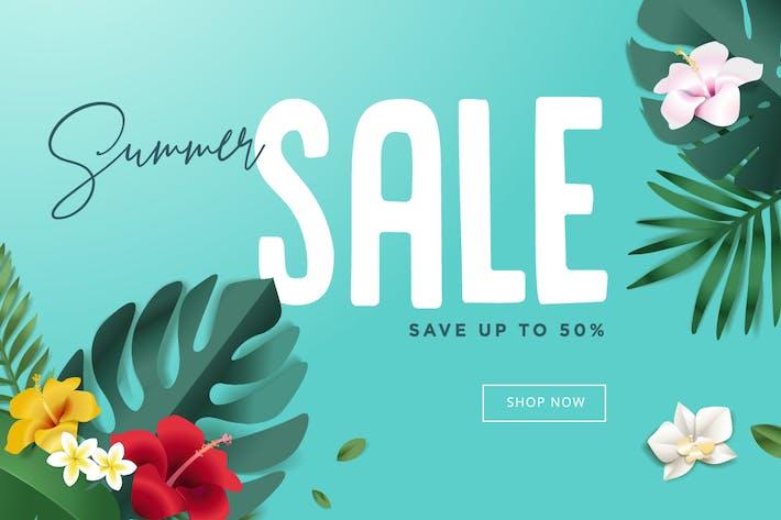 Thumbnail for Banner de venta de verano