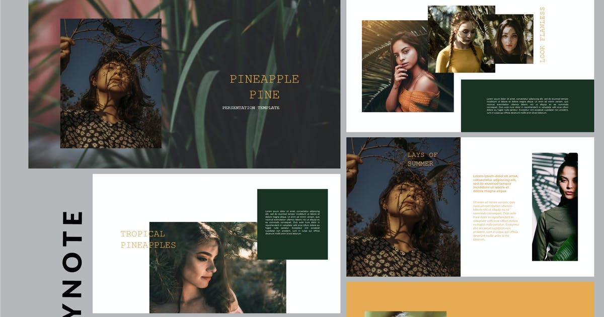 Download Pineapple Pine - Nature Fashion Keynote Template by putra_khan
